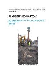 Udgravningsberetning fra Pladsen ved Vartov - Københavns Museum