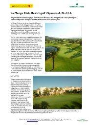La Manga Club, Resort-golf i Spanien d. 24.-31.3. - Spies