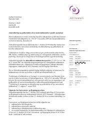AarhusUniversitet Marianne Kjær Sendt pr. e-mail: au@au.dk mj ...