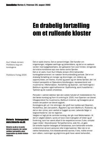 En drabelig fortælling om et rullende kloster - Historie-nu.dk