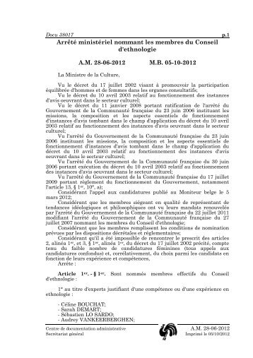 arrêté ministériel du 28 juin 2012 (.pdf) - Patrimoine culturel