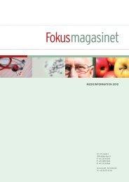 MEDIEINFORMATION 2010 - Fokusmagasinet