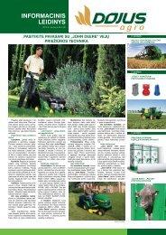 INFORMACINIS LEIDINYS - DOJUS agro