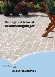 Vedligeholdelse af betonbelægninger - Dansk Beton