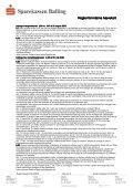 Regler for interne hævekort - Sparekassen Balling - Page 6