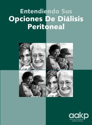 Entendiendo Sus Opciones De Diálisis Peritoneal - ESRD Network ...