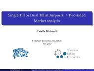 Single Till or Dual Till at Airports: a Two-sided Market analysis