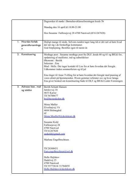 Referat fra kredsstyrelsesmøde april 2012