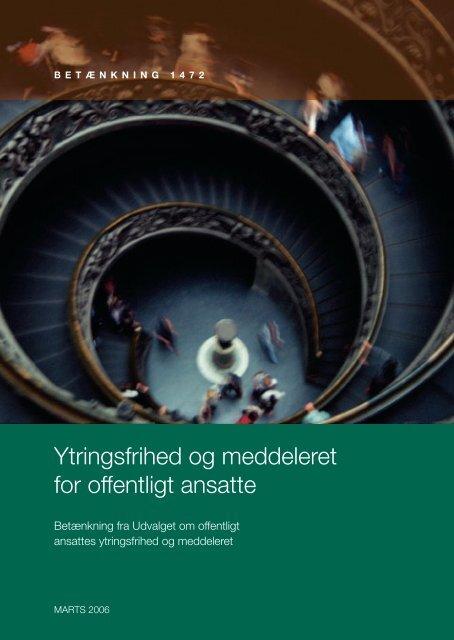 Ytringsfrihed og meddeleret for offentligt ansatte - Justitsministeriet ...