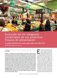 Evolución de los márgenes comerciales de los productos ... - Mercasa