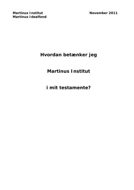 vedlagte vejledning - Martinus Institut