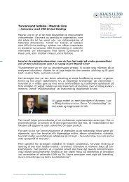 Turnaround ledelse i Maersk Line PDF - Klaus Lund & Partnere
