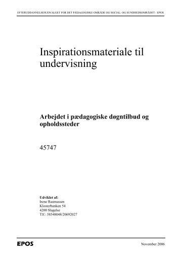 Inspirationsmateriale til undervisning - EPOS