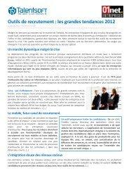 Outils de recrutement : les grandes tendances 2012