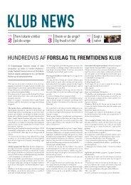 [pdf] HUNDREDVIS AF FORSLAG TIL FREMTIDENS KLUB