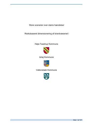 Scenarierapport for Høje-Taastrup, Ishøj Kommune og Vallensbæk ...