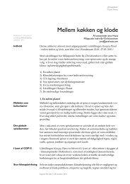 Mellem køkken og klode - Jens Hvass