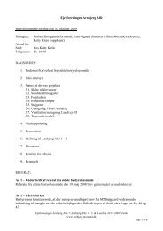 30-10-2008, bestyrelsesmøde, referat - Ejerforeningen Arnbjerg Allé ...