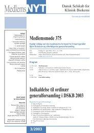 MedlemsNyt 2003/3 - Dansk Selskab for Klinisk Biokemi
