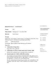 Referat 5 - Københavns Universitet