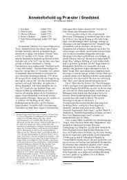 Ditlevsen, S.: Anneksforhold og præster i Snedsted - Thisted Museum