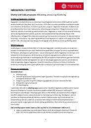 Målsetting, prosess og forankring. - Høgskolen i Vestfold