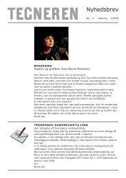 22009 Marts 2009 Mindeord om Tove Marie Petersen ... - Tegnerne