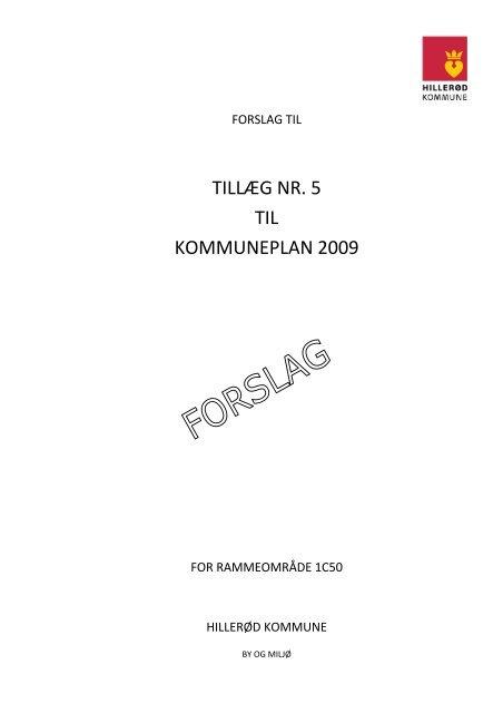 TILLÆG NR. 5 TIL KOMMUNEPLAN 2009