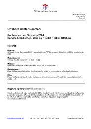 Referat fra konferencen kan ses her. - Offshore Center Danmark