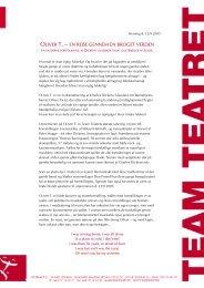 OLIVER T. — EN REJSE GENNEM EN BROGET ... - Team Teatret