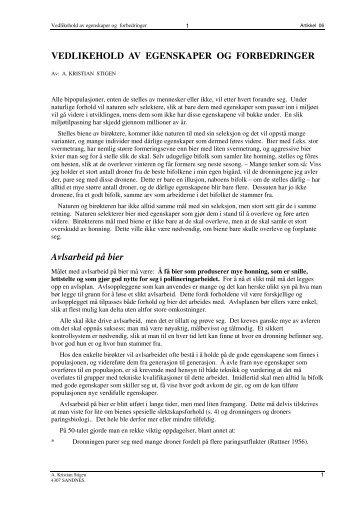 Artikkel 06 -Vedlikehold av egenskaper og forbedringer