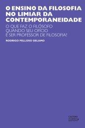 O ENSINO DA FILOSOFIA NO LIMIAR DA ... - Universia Livros