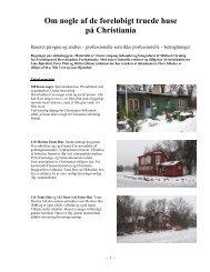 Om nogle af de truede christiania-huse - Christianias frie natur