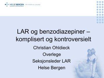 LAR og benzodiazepiner - Sykehuset Innlandet HF