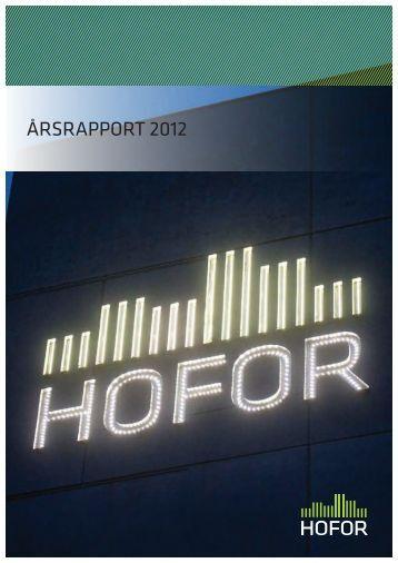 ÅRSRAPPORT 2012 - hofor