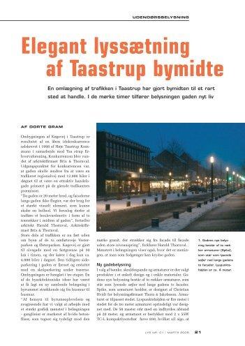 Elegant lyssætning af Taastrup bymidte - Høje-Taastrup Kommune