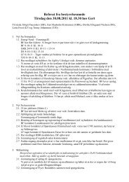 Referat fra bestyrelsesmøde Tirsdag den 30.08.2011 kl. 18.30 hos ...