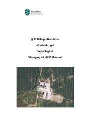 11 Miljøgodkendelse af svinebruget - Favrskov Kommune