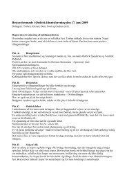 Referat af bestyrelsesmøde den 17. juni 2009 - Østbirk Idrætsforening