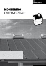MONTERING LISTEDÆKNING - Phønix Tag Materialer