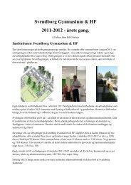 Svendborg Gymnasium & HF 2011-2012 - årets gang.