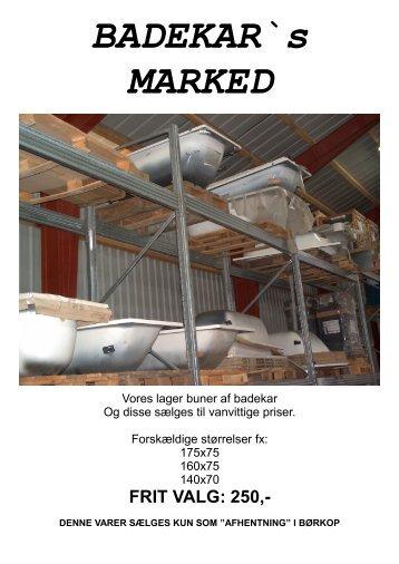 BADEKAR`s MARKED - VVS Grossisten