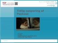 Tidlig opsporing af Psykose - Region Sjælland