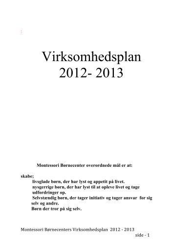 Virksomhedsplan 2012- 2013 - Hjem