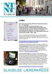 Netnyt oktober 2012 - Aktuelt fra Slagelse Lærerkreds