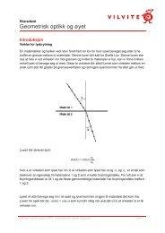 Geometrisk optikk og øyet - VilVite