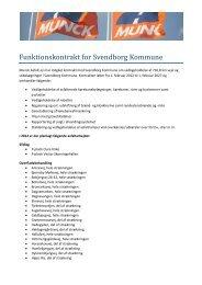 Funktionskontrakt for Svendborg Kommune - Munck Asfalt A/S