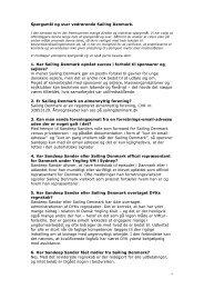 Klik her og læs en række spørgsmål og svar om Sailing Denmark ...