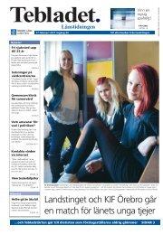 Tebladet nr 1 2011 - Örebro läns landsting