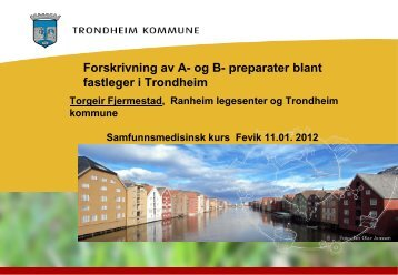 Medikamenter Trondheim - Arendal kommune